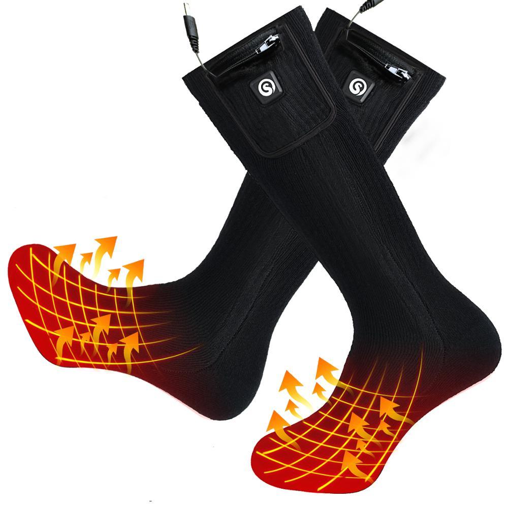Savior Thermal Heated Socks for Women Men Foot Warmers Electric Rechargable Battery Heating Socks